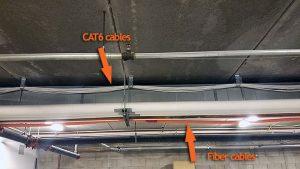 Cat6 and Fiber example