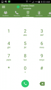 Zultys Mobile - Dial Pad