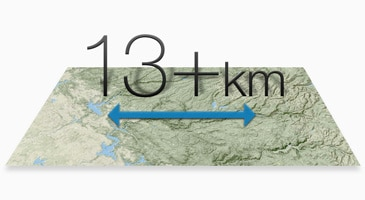 13Km Distance